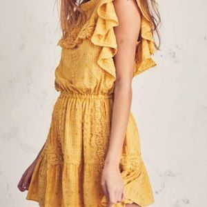 LoveShackFancy Marigold Mini Dress